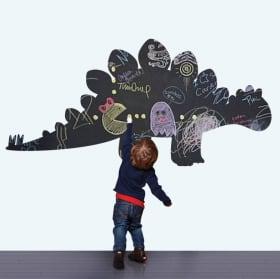 Vinili decorativi per bambini lavagna nera dinosauro