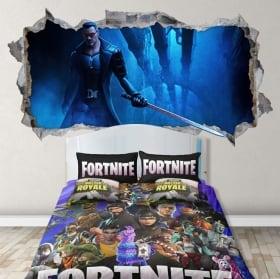 Vinili parete video gioco fortnite 3d