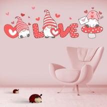 Vinili e adesivi romantici gnomo love