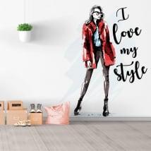 Vinili e adesivi silhouette donna amo il mio stile