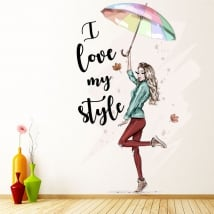 Vinile silhouette donna i love my style