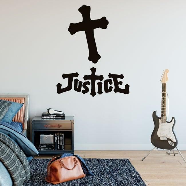 Vinile e adesivi music band justice