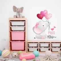 Vinili e adesivi per bambini elefante miss you