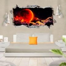 Vinili e adesivi 3d luna rossa