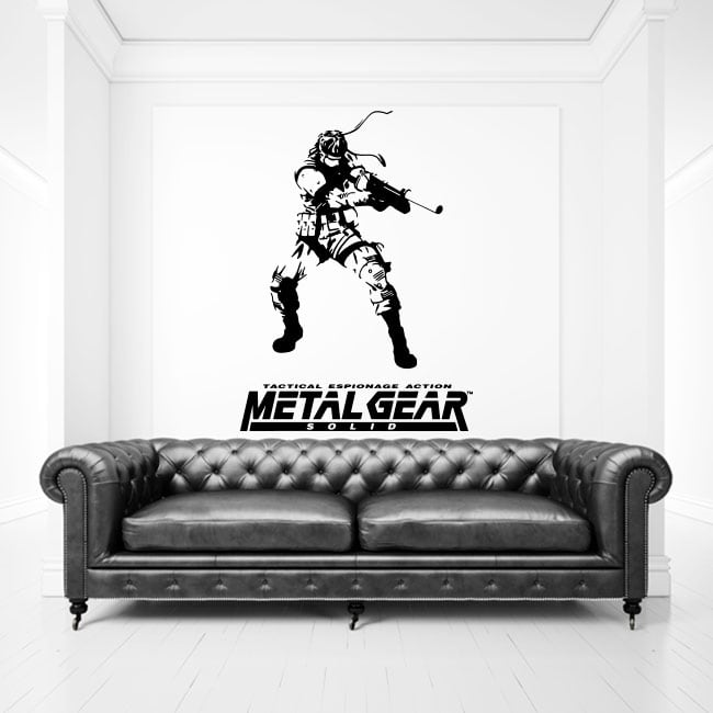 Vinili e adesivi video gioco metal gear