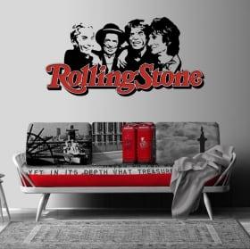 Vinili e adesivi banda musicale rolling stone