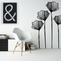 Adesivi in vinile fiori per decorare