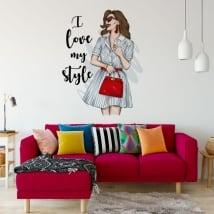 Vinili e adesivi donna con frase i love my style
