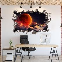 Luna nello spazio adesivi