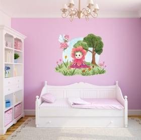 Vinili e adesivi per bambini acquerello fate dei fiori