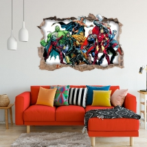 Vinile decorativo 3d marvel supereroe yellowjacket
