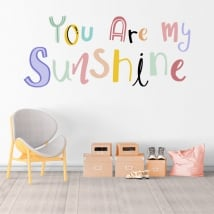 Vinili frase inglese you are my sunshine