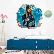 Vinili e adesivi 3d pirati dei caraibi
