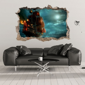 Vinili decorativi e adesivi 3d pirati dei caraibi