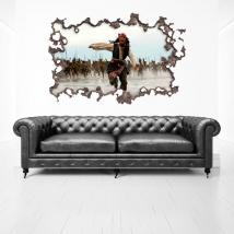 Vinile 3d buco muro pirati dei caraibi