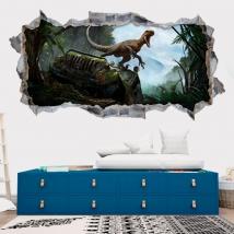 Vinile decorativo 3d dinosauro jurassic park