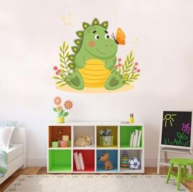 Vinili per bambini dinosauro e farfalla