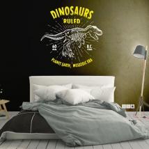 Vinili e adesivi dinosaurs ruled