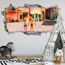 Vinile decorativo 3d luca disney pixar