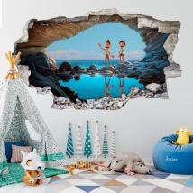 Vinyles décoratifs trou 3d luca disney pixar