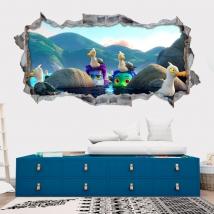 Vinili adesivi 3d luca disney pixar