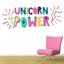 Vinili decorativi unicorn power