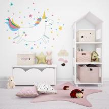 Vinili decorativi unicorno con stelle