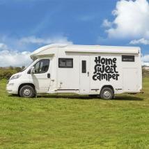 Adesivi per camper frase home sweet camper
