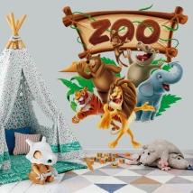 Vinili e adesivi animali dello zoo