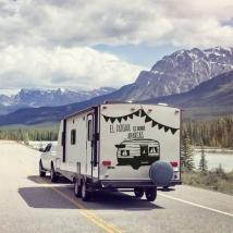 Vinili e adesivi caravan frase casa è dove si parcheggia
