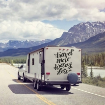 Vinili adesivi frase inglese per caravan