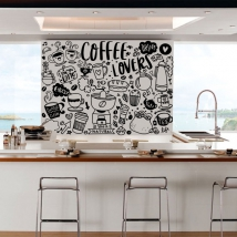 Vinili decorativi frasi amanti del caffè