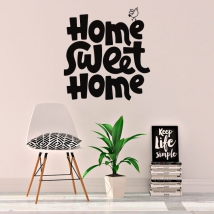 Vinile con frase inglese home sweet home