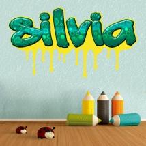 Adesivi e vinili graffiti con nomi personalizzati