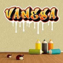 Adesivi graffiti nomi personalizzati