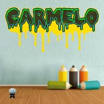 Adesivi effetto graffiti con nome personalizzato