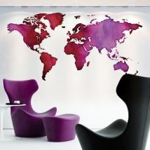 Vinili decorativi mappa del mondo colorata
