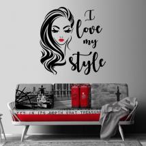 Vinili decorativi e adesivi faccia di donna i love my style