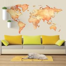 Vinili e adesivi mappa del mondo a colori