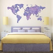 Vinili mappa del mondo a colori