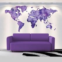Vinili decorativi mappa del mondo a colori