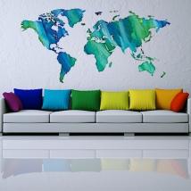 Vinile e adesivi con mappa del mondo multicolore