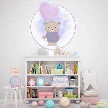 Vinile per bambini o neonati orsetto con palloncino