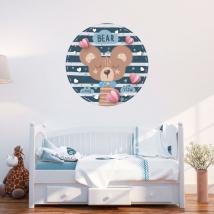 Vinile e adesivi per bambini o neonati orso romantico