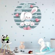 Vinile e adesivi per bambini o neonati romantico coniglio