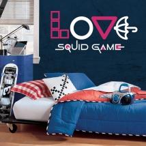 Vinili decorativi e adesivi netflix love squid game
