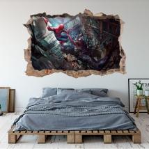 Vinile 3d marvel illustrazione spider-man e venom