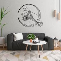 Vinili decorativi triangoli con tratti e cerchi