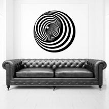 Vinili decorativi cerchi effetto ottico